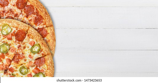 pizza combo. several different pizzas are cheaper when ordering
