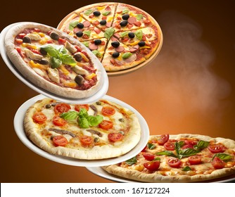 pizza isolated on background