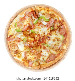 Pizza, isolated on white background