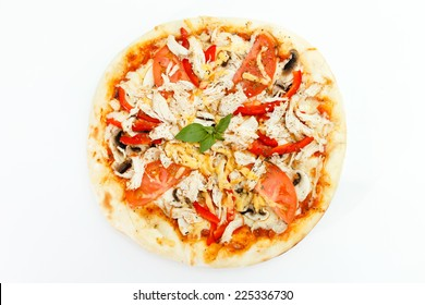 pizza isolated in the white