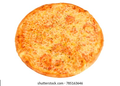 A Pizza Margherita with cheese