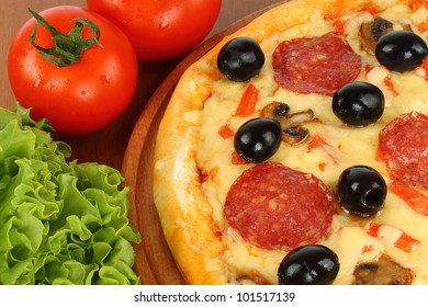 Pizza with olive