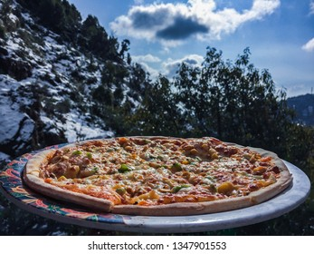 Pizza on the mountain top