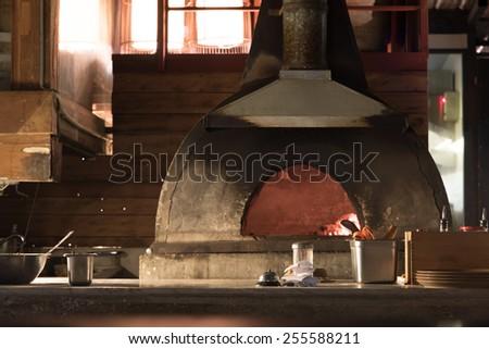 Pizza Oven Open Kitchen Italian Restaurant Stock Photo Edit Now