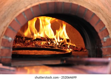 Pizza oven in restaurant
