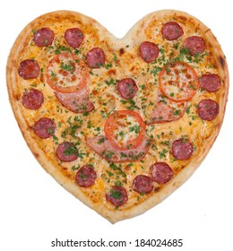pizza in the shape of a heart Chromakey