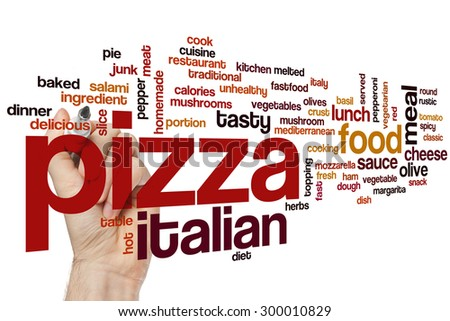 Pizza Word Cloud Concept Italian Food Stock Photo (Edit Now ...