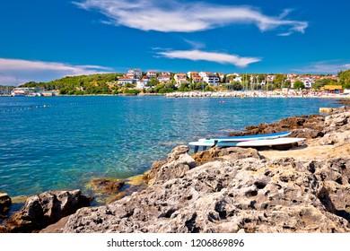 Pjescana Uvala near Pula beach and coastline view, Istria region of Croatia
