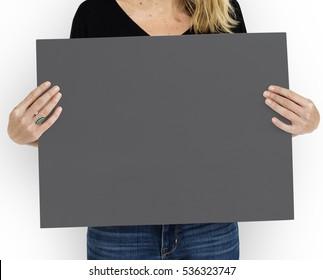 Placard Copyspace Blank Communication Concept