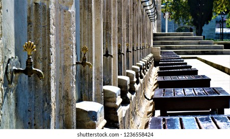 place of Ablutions in the mosque al Fatih in istanbul