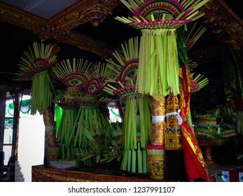 Place And Balinese Wedding Ritual Ceremony Facilities In The House At Tuka Village, Badung, Bali, Indonesia