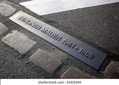 Place of the Berlin wall until 1989, now part of a street.