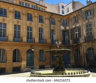 Place d'Albertas, Aix-en-Provence, France.