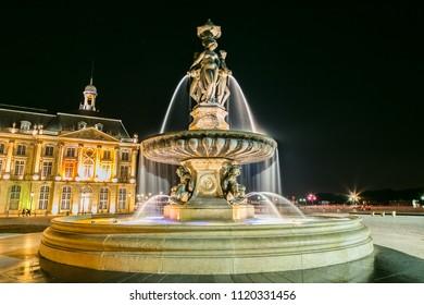 Place de la Bourse in Bordeaux , France