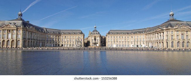 "The ""Place de la Bourse"" in Bordeaux was designed by the royal architect Jacques Ange Gabriel between 1730 and 1775"