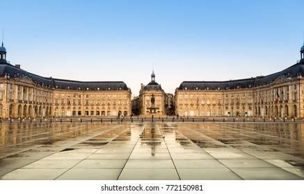Place de la Bourse in Bordeaux,France