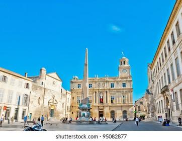 Place de la Republique in Arles, France