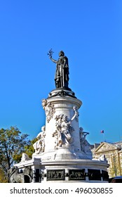 Place de la Republique, Paris, statue, France