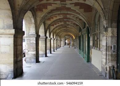 Place des Vosges, Paris, France. Vosges square.