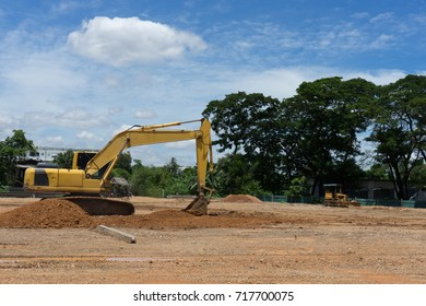 Place and equipment for construction