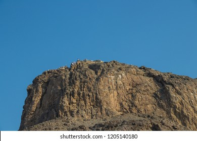 Place of first revelation to Prophet Muhammad. Magnificent view of the top of Jabal Nur, where Hira Cave is situated.