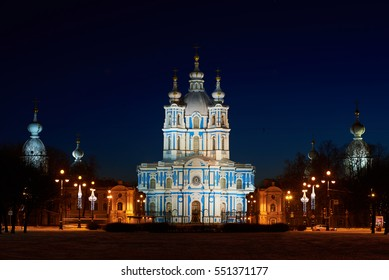 Place of Interest in Saint-Petersburg. Smolny Convent, this is one of the most beautiful churches in St. Petersburg.