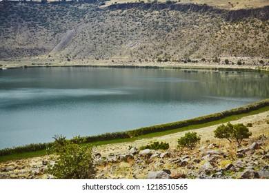 Place known as Narli Gol - voclanic lake at Cappadocia, Turkey
