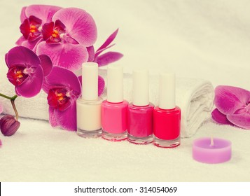 Place for manicure in salon