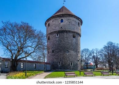 Ðistorical place - Medieval tower Kiek in de Kok in Tallinn, Estonia