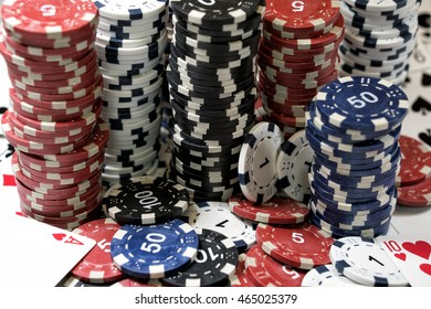 The place of a poker player