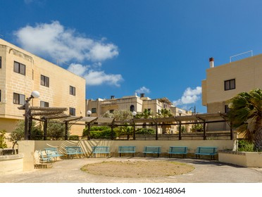 A place to relax and chat and watch the setting sun in Mtarfa, Malta