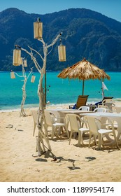 A place to relax on a tropical beach. South-East Asia