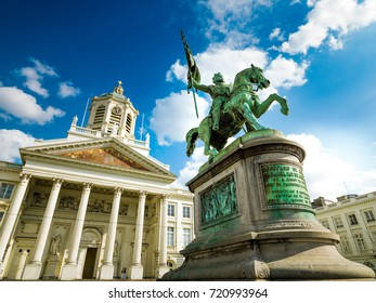 Place Royale in Brussels, Flanders, Belgium, Europe