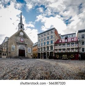 Place Royale (Royal Plaza) and Notre Dame des Victories Church - Quebec City, Quebec, Canada