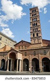 The place where is located Bocca Della Verita in Rome, Italy