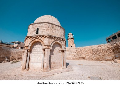 The place where Muslims believe that the Prophet Jesus rose to the sky. Or Chapel of the Ascension