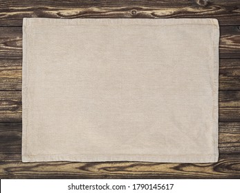 Placemat placed on a brown table