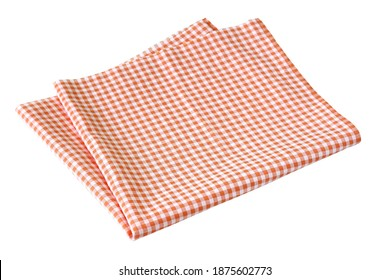 Placemat, Scotch pattern, orange-white on white background