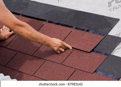 Placement of asphalt shingles