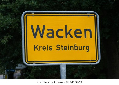 place-name sign of Wacken Open Air Festival germany