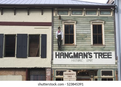 PLACERVILLE, CALIFORNIA - NOVEMBER 25, 2016:  In 1849 a town known as Hangtown sprung up at the start of the California gold rush.  Citizens in 1854 decided that Placerville would suffice.