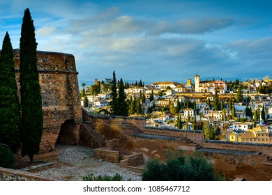 Placeta de los Aljibes, Monumental Complex of the Alhambra and Generalife, Historic and Artistic Center of Granada, Granada, Andalusia, Spain, Iberian Peninsula