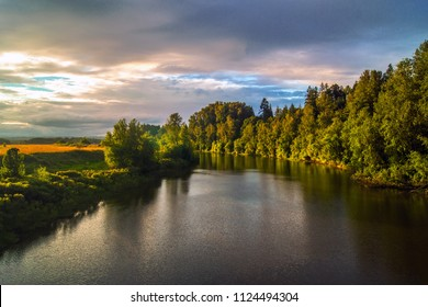 Placid River at Twilight
