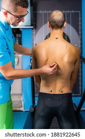 Placing Markers on Man's Back for 3D Gait and Walking Analyses