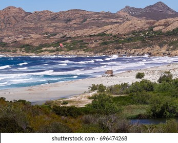 The Plage d'Ostriconi near l'Ã?le Rousse in the north of Corsica