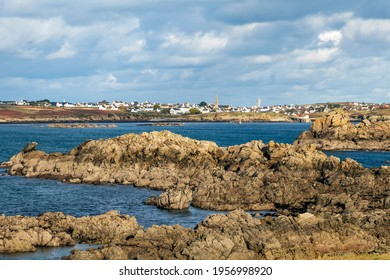 Plage du Prat, Ouessant, island of Ushant in Brittany, french rocky coastline in northern France, Finistere department, Europe
