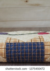 Plaid Hand Quilted Patchwork Quilt