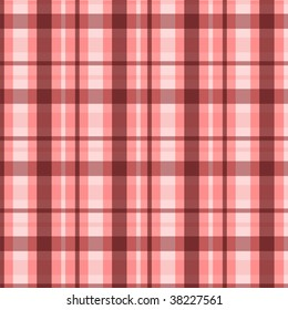 Plaid pattern in pink and brown