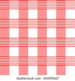 plaid pattern with red color