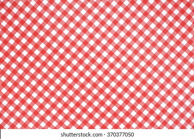 plaid red and white